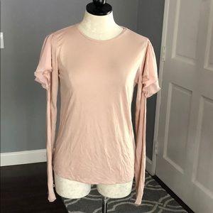Zara Long Sleeves Cold Shoulder Shirt
